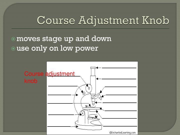 Course Adjustment Knob