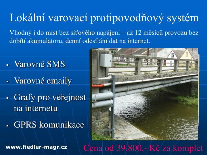 Lokální varovací protipovodňový systém