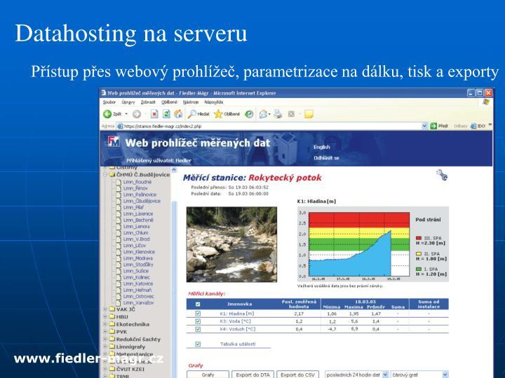 Datahosting na serveru