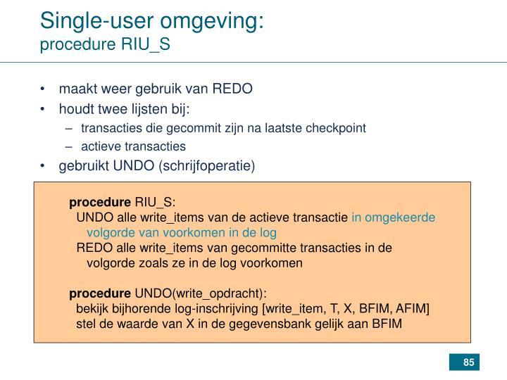 Single-user omgeving: