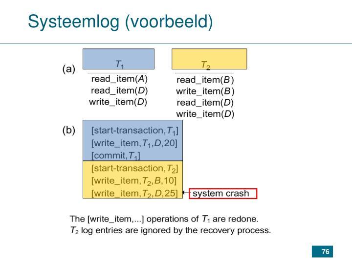 Systeemlog (voorbeeld)