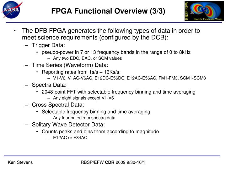 FPGA Functional Overview (3/3)