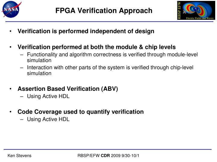 FPGA Verification Approach