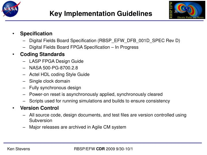 Key Implementation Guidelines