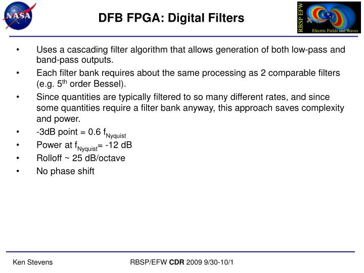 DFB FPGA: Digital Filters