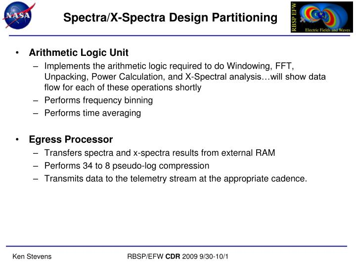 Spectra/X-Spectra Design Partitioning