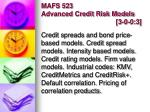 mafs 523 advanced credit risk models 3 0 0 3