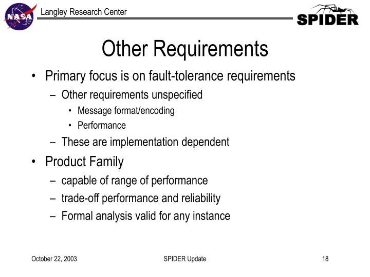 Other Requirements