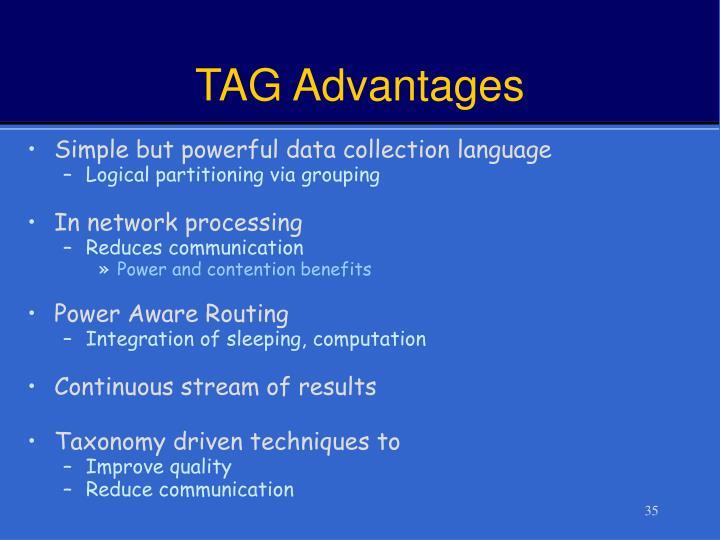 TAG Advantages