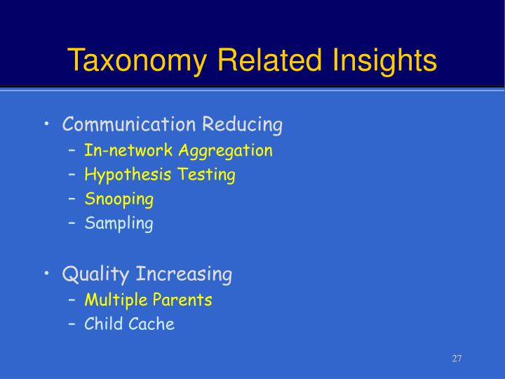 Taxonomy Related Insights