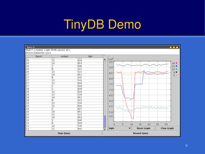 TinyDB Demo
