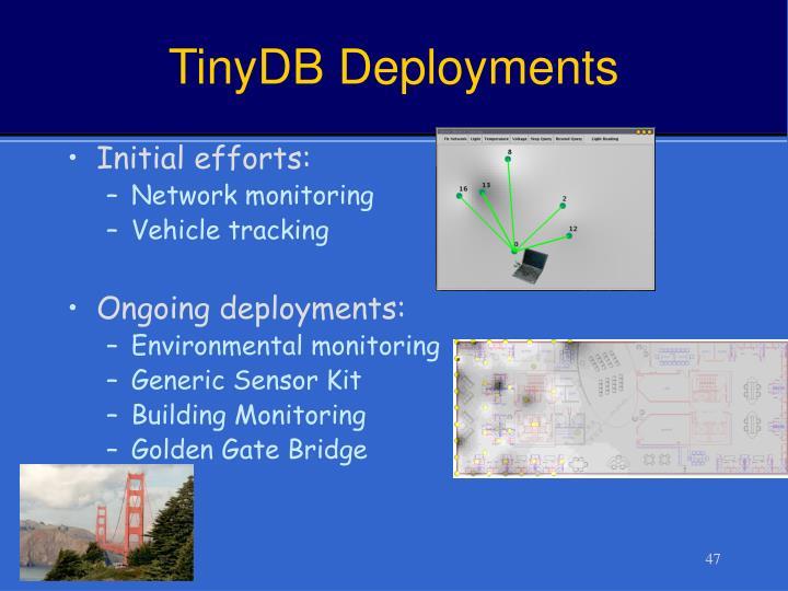 TinyDB Deployments