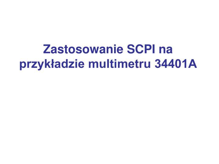 Zastosowanie SCPI na przykładzie multimetru 34401A
