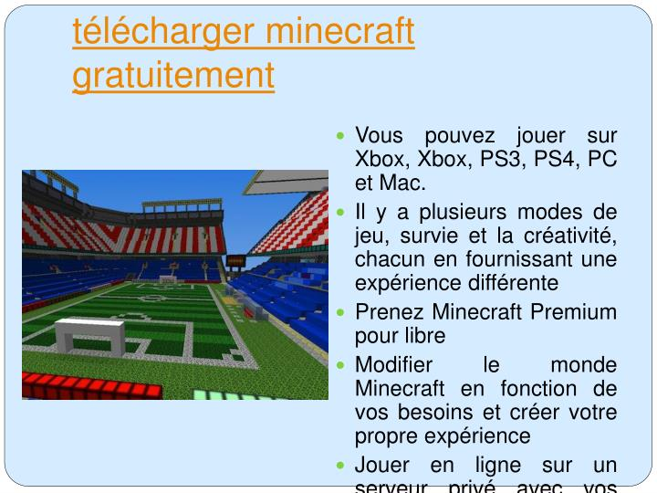 T l charger minecraft gratuitement