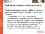 youth situated between modernity tradition