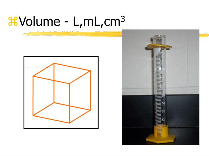 Volume - L,mL,cm