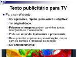 texto publicit rio para tv1