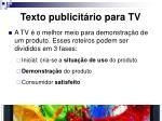 texto publicit rio para tv2