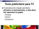 texto publicit rio para tv3