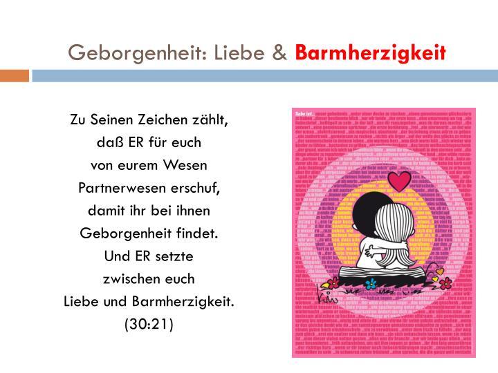 Geborgenheit: Liebe &