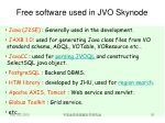 free software used in jvo skynode