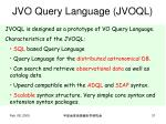 jvo query language jvoql