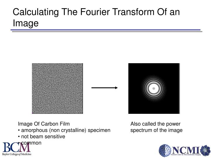 Calculating The Fourier Transform Of an Image