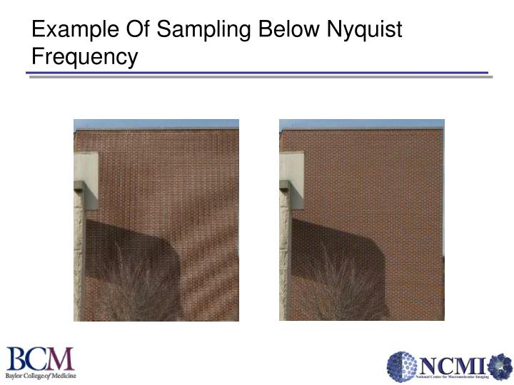 Example Of Sampling Below Nyquist Frequency