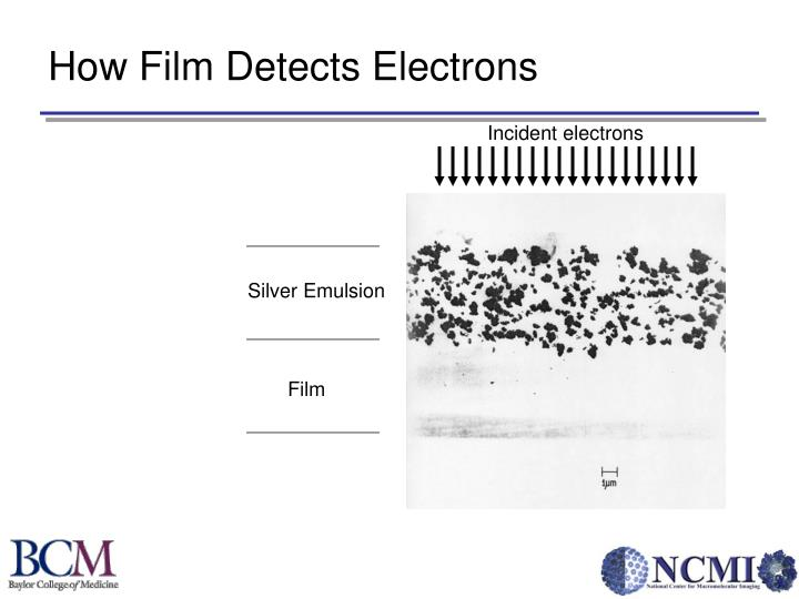 How Film Detects Electrons
