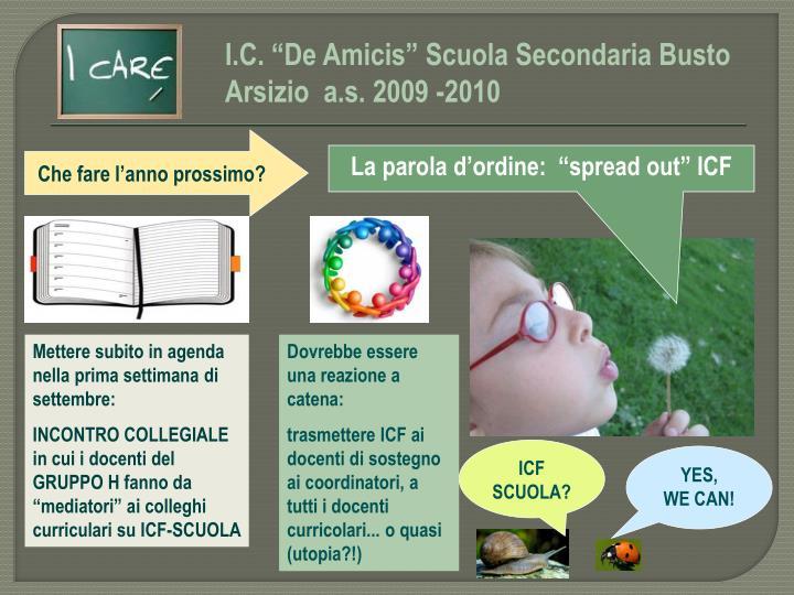 """I.C. """"De Amicis"""" Scuola Secondaria Busto Arsizio  a.s. 2009 -2010"""