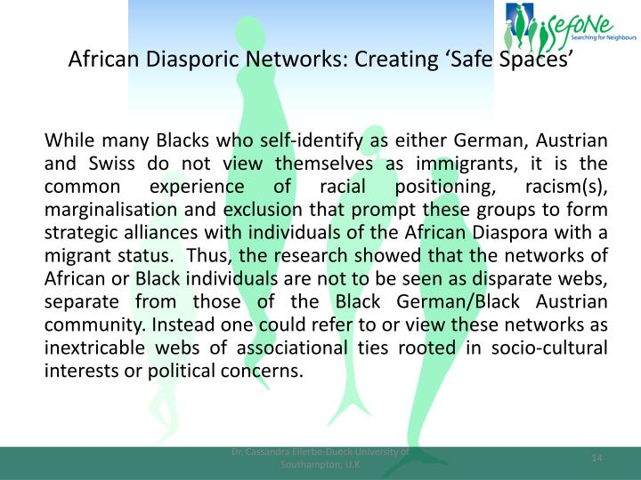 African Diasporic Networks: Creating 'Safe Spaces'