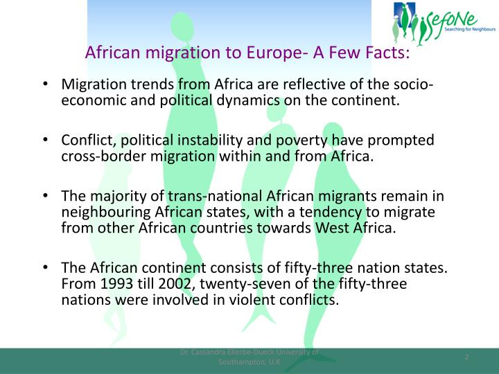 African migration to Europe- A Few Facts:
