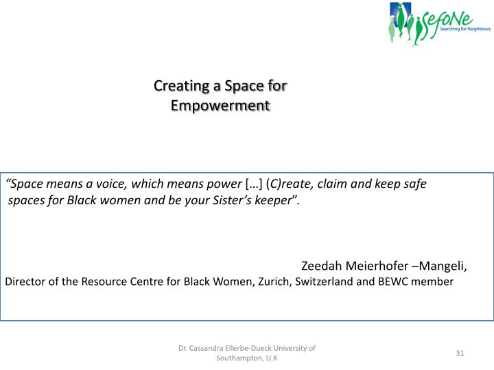 Creating a Space for Empowerment