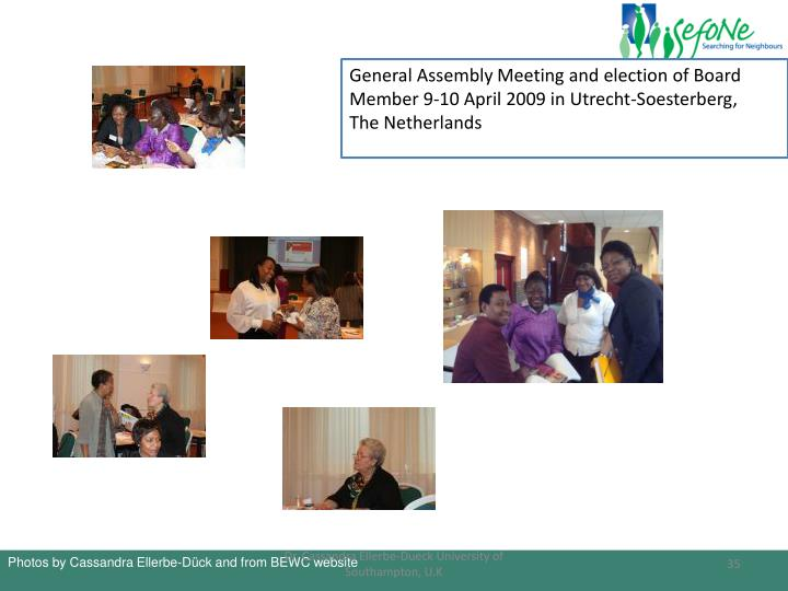 General Assembly Meeting and election of Board