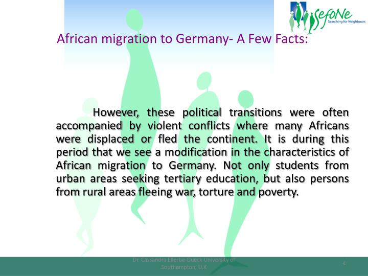 African migration to Germany- A Few Facts: