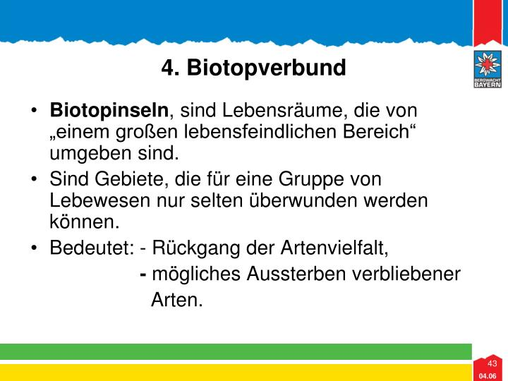 4. Biotopverbund