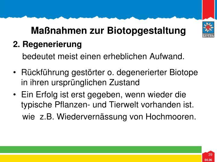 Maßnahmen zur Biotopgestaltung