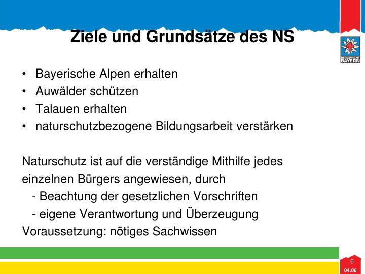 Ziele und Grundsätze des NS