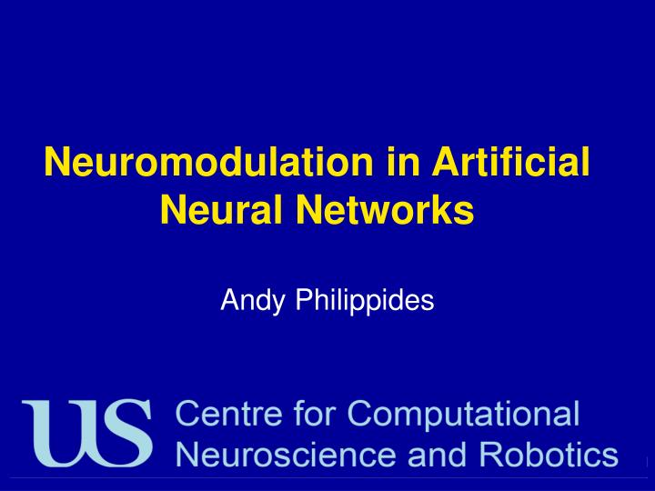 Neuromodulation in artificial neural networks