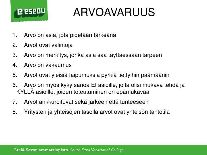 ARVOAVARUUS