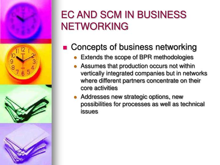 EC AND SCM IN BUSINESS NETWORKING
