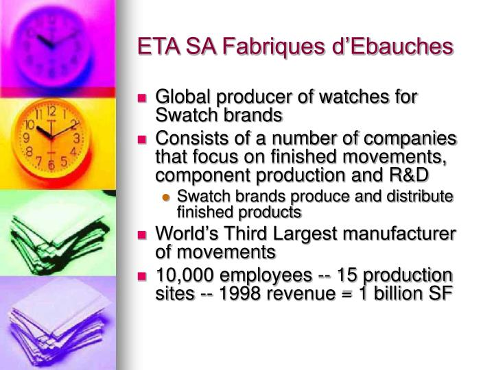 ETA SA Fabriques d'Ebauches