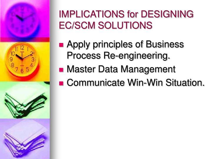 IMPLICATIONS for DESIGNING EC/SCM SOLUTIONS
