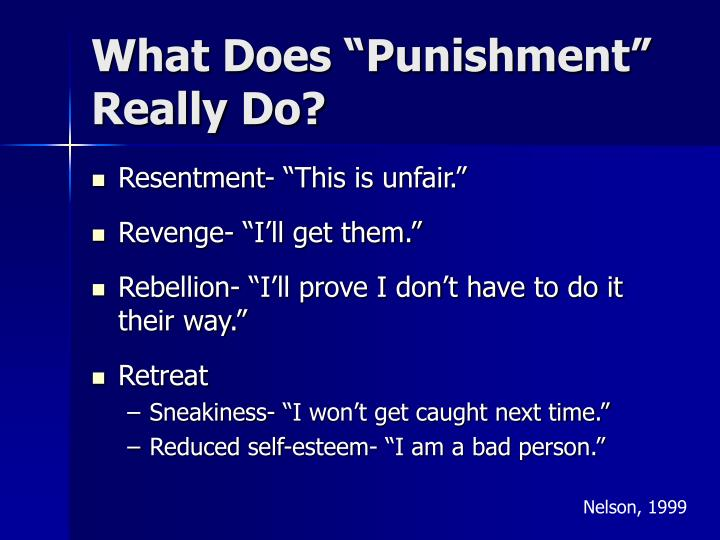 "What Does ""Punishment"" Really Do?"