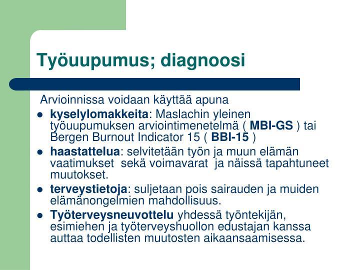 Työuupumus; diagnoosi