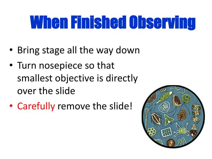When Finished Observing