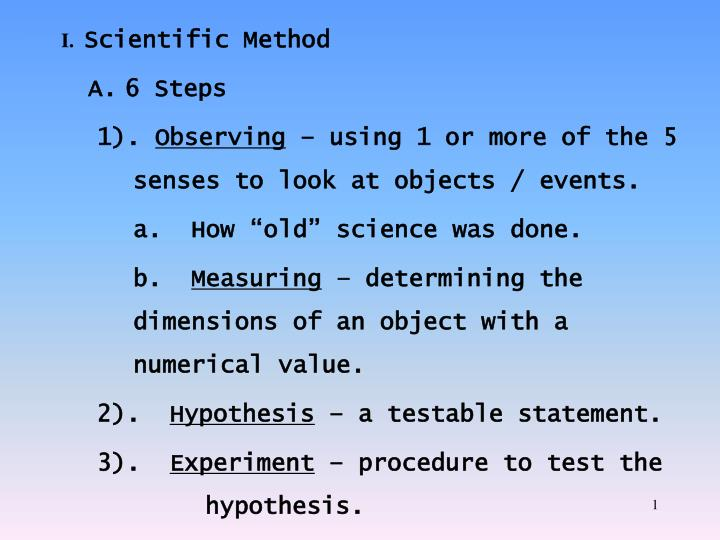i scientific method n.
