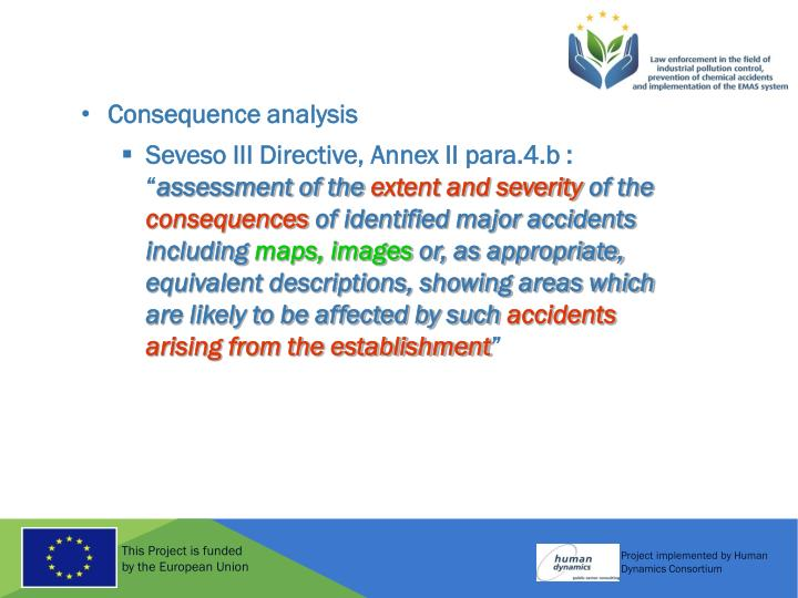 Consequence analysis