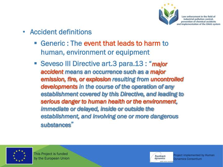 Accident definitions