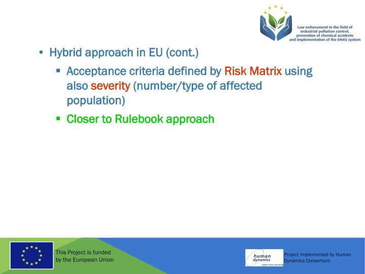 Hybrid approach in EU
